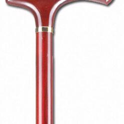 Μπαστούνι Ξύλινο Τριανταφυλλιά Ίσια Λαβή AC–835
