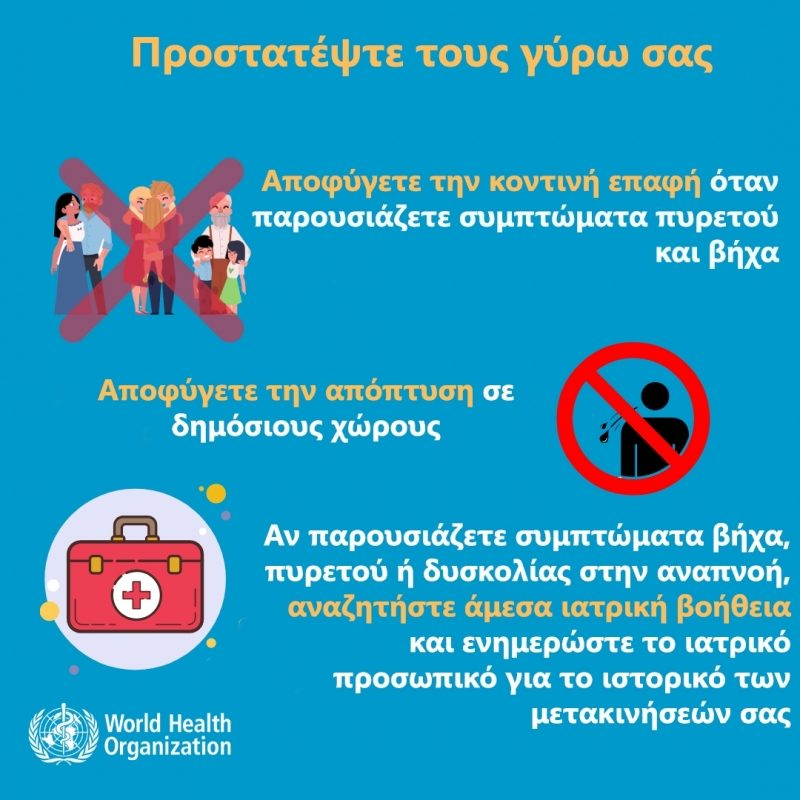οδηγίες προφύλαξης co-vid19