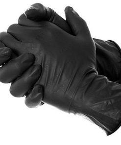 latex μαύρα γάντια