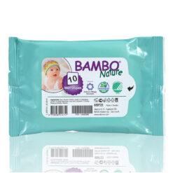 Βambo Nature Παιδικά Βιοδιασπώμενα Μωρομάντηλα τσέπης - 10 τμχ
