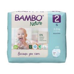 Bambo Nature Πάνες Eco-Friendly size 2, 3-6 Kg